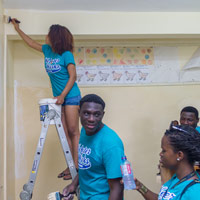 Webster Ghana Service Project Helps New Horizon Special School in Accra