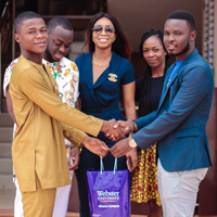 Innovator Kelvin Doe Inspires Students at Ghana Campus