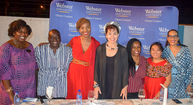 "The panelists and moderators for ""MeToo from an African perspective"""